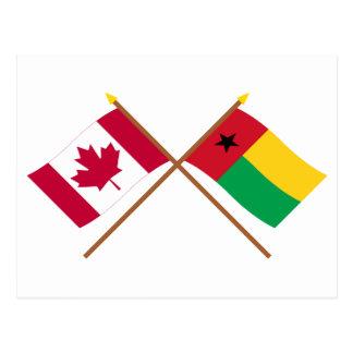 Canadá y banderas cruzadas Guinea-Bissau Postal