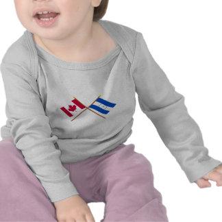 Canadá y banderas cruzadas Honduras Camiseta