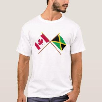 Canadá y banderas cruzadas Jamaica Camiseta