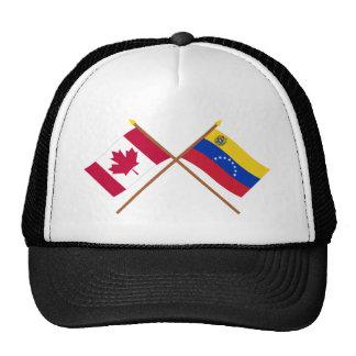 Canadá y banderas cruzadas Venezuela Gorros