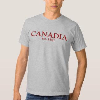 Canadia est 1867 camisetas