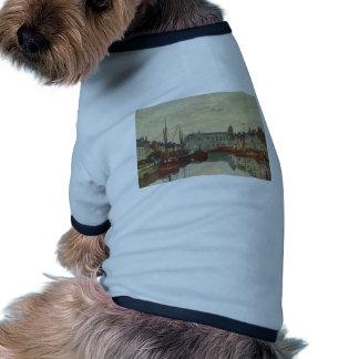 Canal de Eugene Boudin- en Bruselas Camisa De Perro