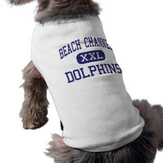 Canal de la playa - delfínes - alto - parque de Ro Camisa De Perro