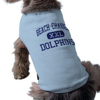 Canal de la playa - delfínes - alto - parque de Ro Camisetas De Mascota