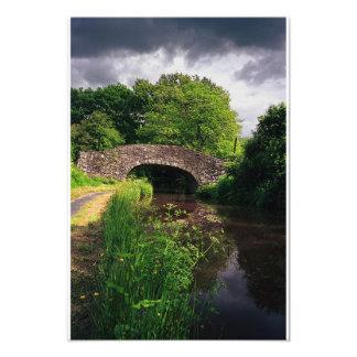 Canal en Brecon, País de Gales, impresión Arte Fotografico