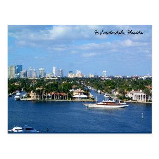 Canal intracostero y horizonte del pie Lauderdale Postal