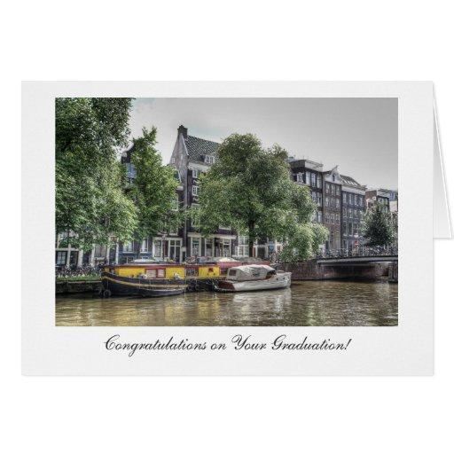 Canal pacífico - enhorabuena en la graduación tarjetón