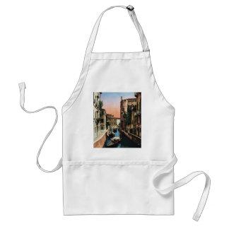 Canales de Venecia, imagen del vintage Delantal