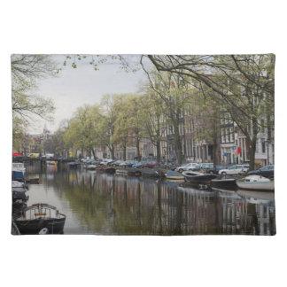 Canales en Amsterdam, Holanda Salvamanteles