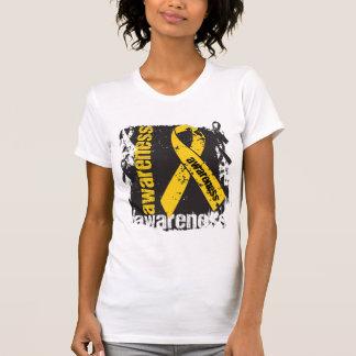 Cáncer Awareness.png de Neurobastoma del Grunge Camisetas