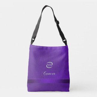 Cáncer de cuero púrpura de la muestra del zodiaco bolso cruzado