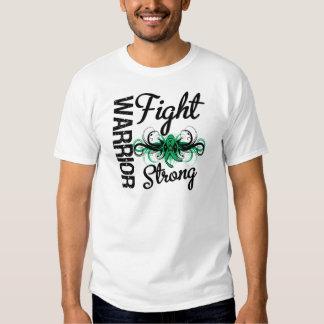 Cáncer de hígado fuerte de la lucha del guerrero camiseta
