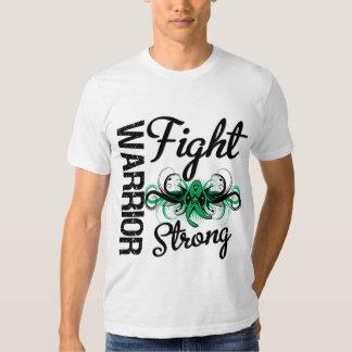 Cáncer de hígado fuerte de la lucha del guerrero camisetas