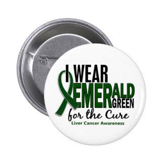 Cáncer de hígado llevo el verde esmeralda para la chapa redonda de 5 cm