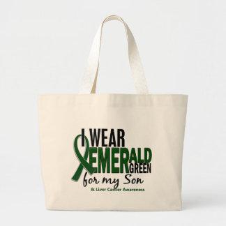 Cáncer de hígado llevo el verde esmeralda para mi bolsa tela grande