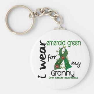Cáncer de hígado llevo el verde esmeralda para mi llavero redondo tipo chapa