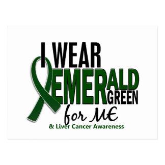 Cáncer de hígado llevo el verde esmeralda para MÍ Postal