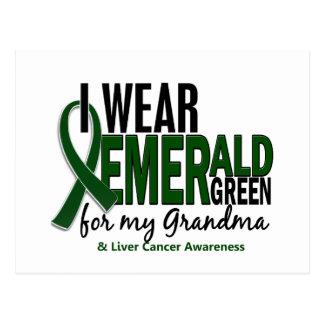 Cáncer de hígado llevo el verde esmeralda para mi postal
