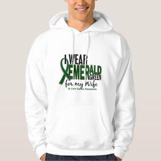 Cáncer de hígado llevo el verde esmeralda para mi pulóver