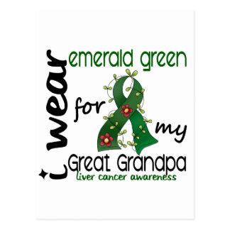 Cáncer de hígado llevo la esmeralda para mi gran postal