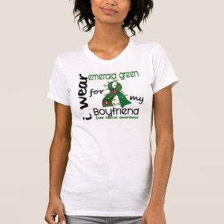 Cáncer de hígado llevo la esmeralda para mi novio camiseta