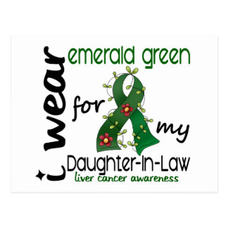 Cáncer de hígado llevo la esmeralda para mi nuera postal