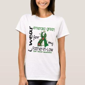 Cáncer de hígado llevo la esmeralda para mi suegro camiseta
