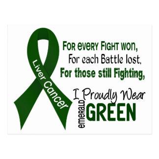 Cáncer de hígado llevo orgulloso el verde postal