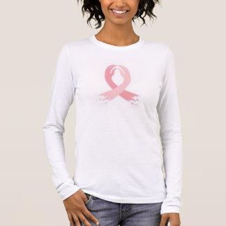 cáncer de pecho camiseta de manga larga