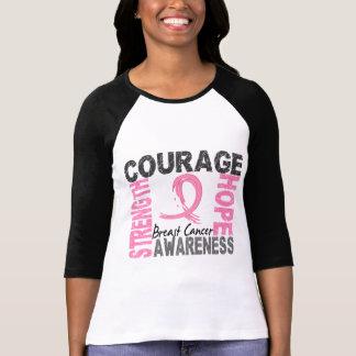 Cáncer de pecho de la esperanza del valor de la camiseta