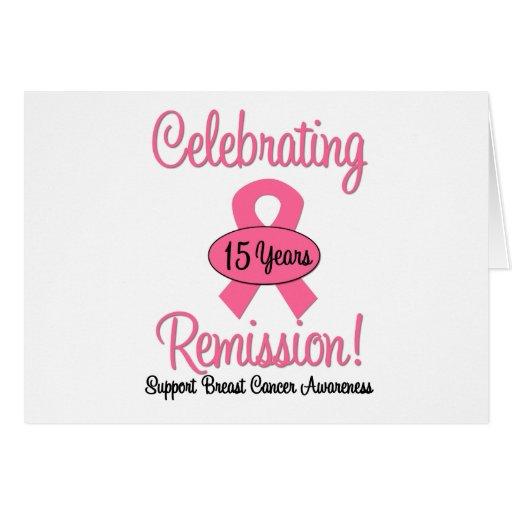 Cáncer de pecho remisión de 15 años tarjeton
