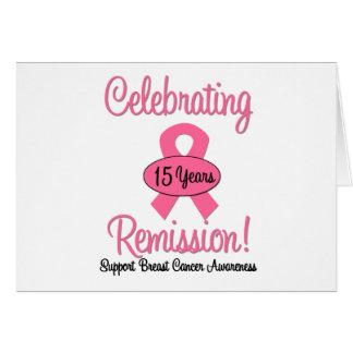 Cáncer de pecho remisión de 15 años tarjeta de felicitación