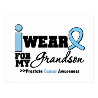 Cáncer de próstata llevo azul claro para mi nieto postal