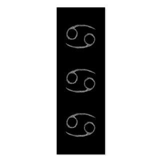 Cáncer. Muestra de la astrología del zodiaco. Tarjetas De Visita Mini