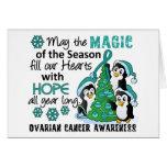 Cáncer ovárico de los pingüinos del navidad tarjetas
