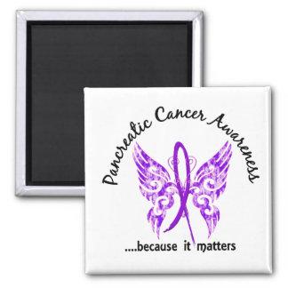 Cáncer pancreático de la mariposa 6,1 del tatuaje  imán cuadrado