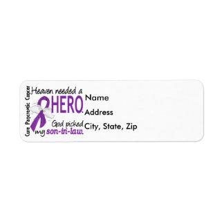 Cáncer pancreático del yerno necesario del héroe etiqueta de remite