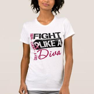 Cáncer principal del cuello - lucha como una diva camiseta