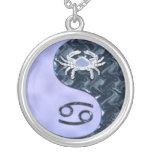 Cáncer Yin Yang Pendiente Personalizado