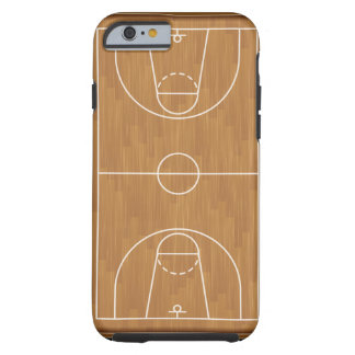 Cancha de básquet funda de iPhone 6 tough