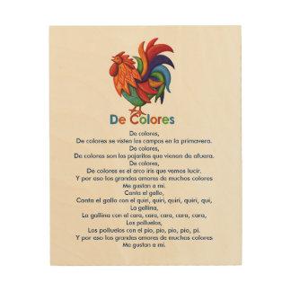"""Canción 8"""" de De Colores Rooster"""" arte de madera"""
