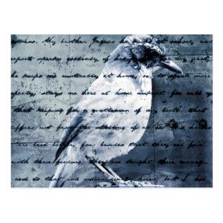 Canción azul del pájaro tarjetas postales