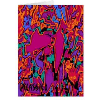 Canción de antorcha colorida de la tarjeta de nota