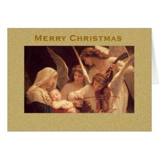 Tarjeta Canción de la tarjeta de Navidad del vintage de