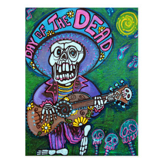 Canción de los muertos postal