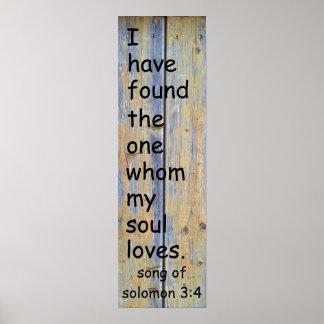Canción del 3:4 de Solomon Póster