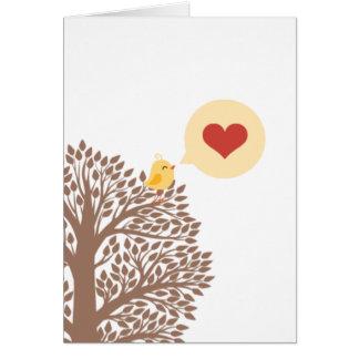 Canción del corazón tarjeta