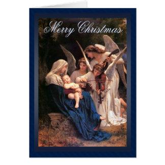Canción del navidad de los ángeles tarjeta de felicitación