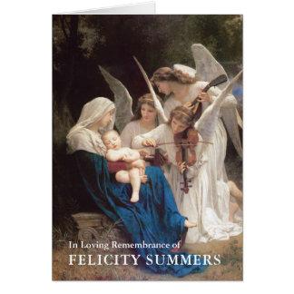 Canción del Virgen María de la tarjeta de nota de
