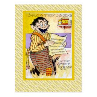 Canciones del vintage y sus cantantes postal
